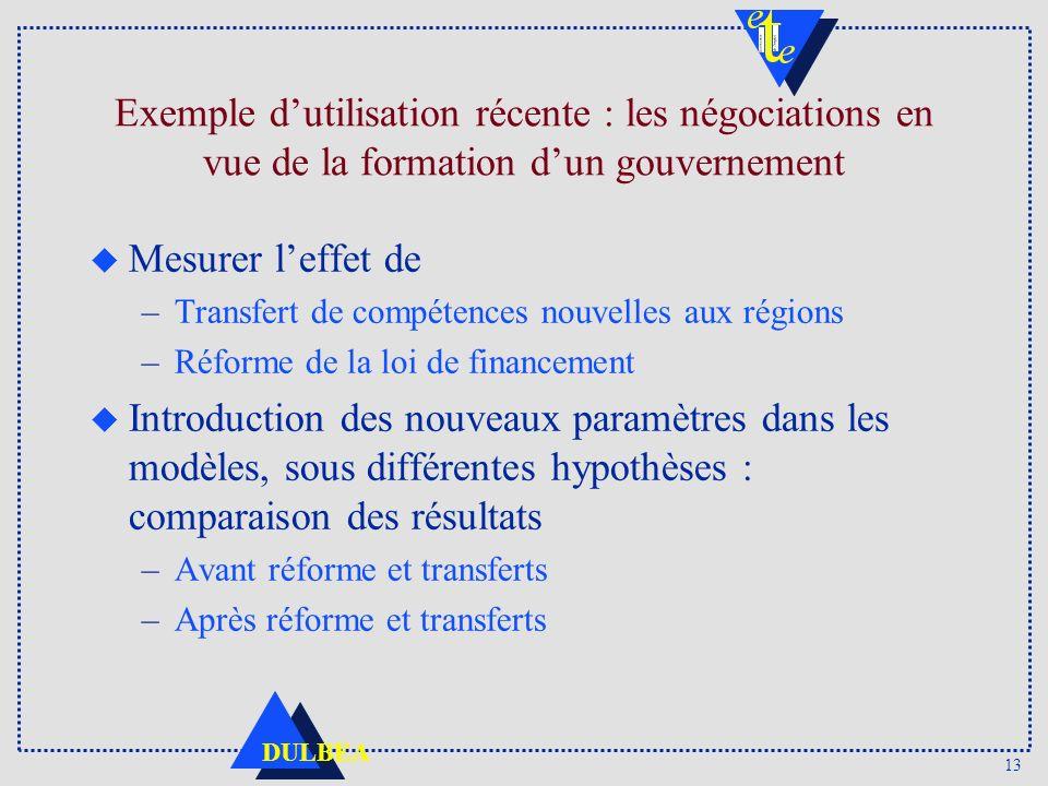 Exemple d'utilisation récente : les négociations en vue de la formation d'un gouvernement