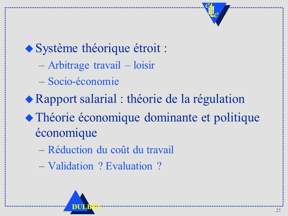 Système théorique étroit :