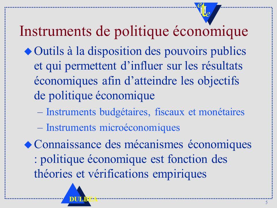 Instruments de politique économique