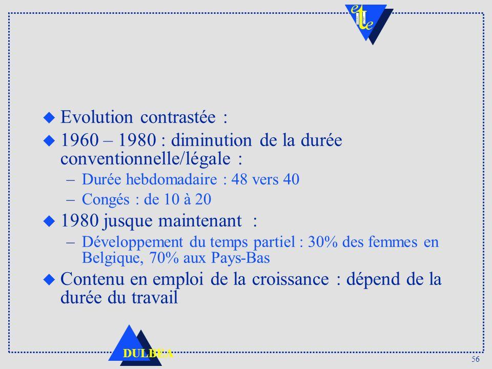 Evolution contrastée :