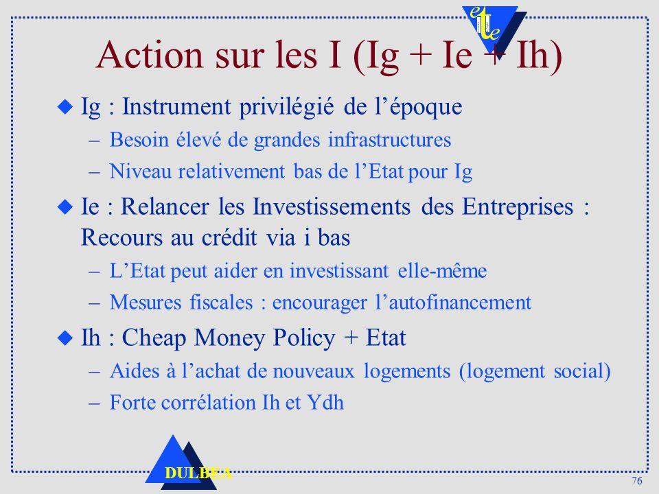 Action sur les I (Ig + Ie + Ih)