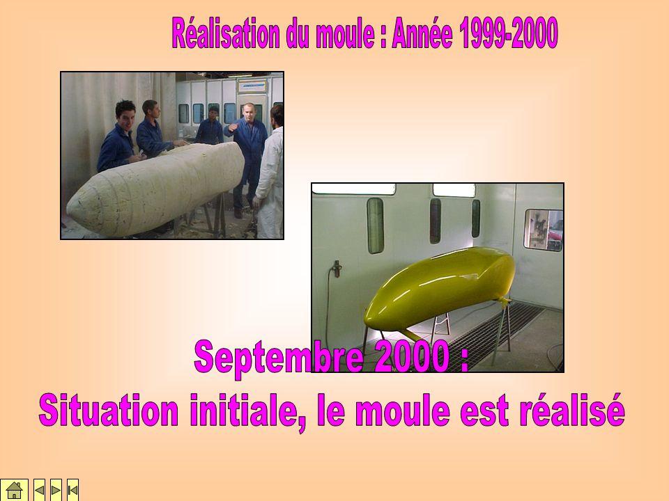 Septembre 2000 : Situation initiale, le moule est réalisé