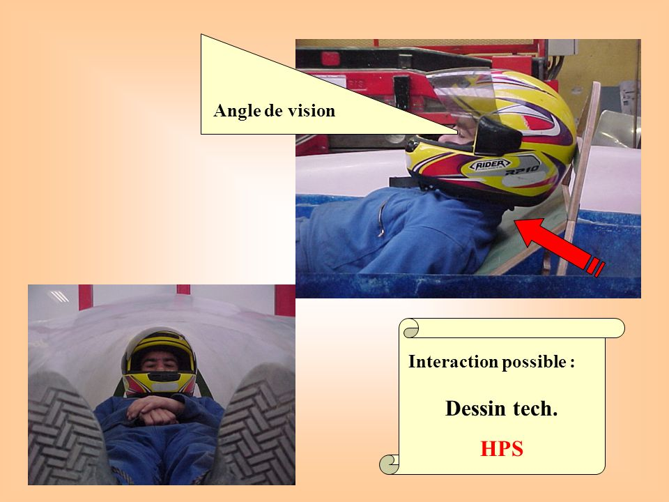 Angle de vision Interaction possible : Dessin tech. HPS