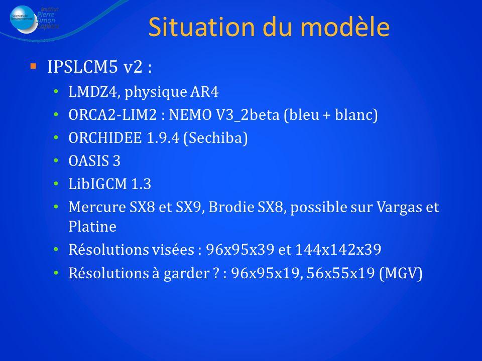 Situation du modèle IPSLCM5 v2 : LMDZ4, physique AR4