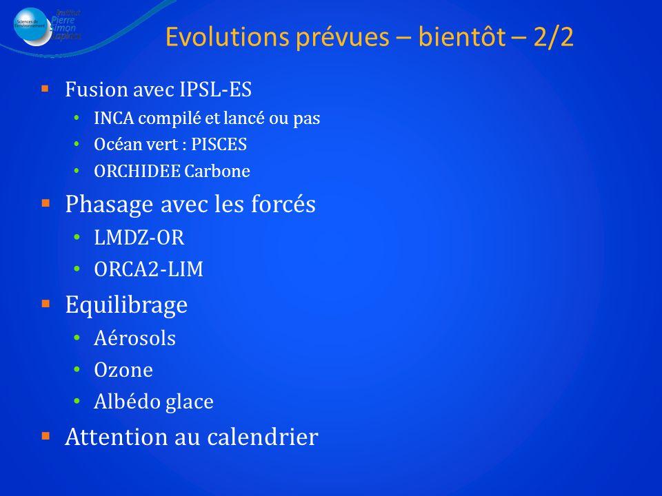 Evolutions prévues – bientôt – 2/2