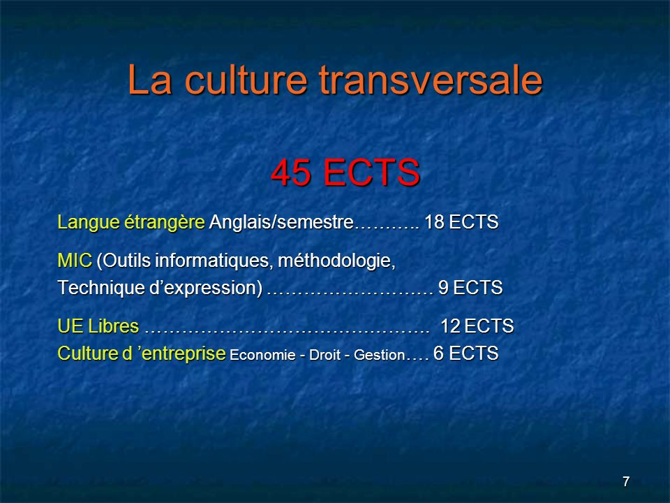 La culture transversale