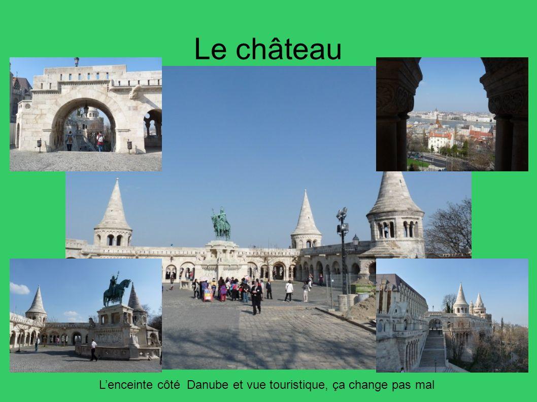 Le château L'enceinte côté Danube et vue touristique, ça change pas mal 22