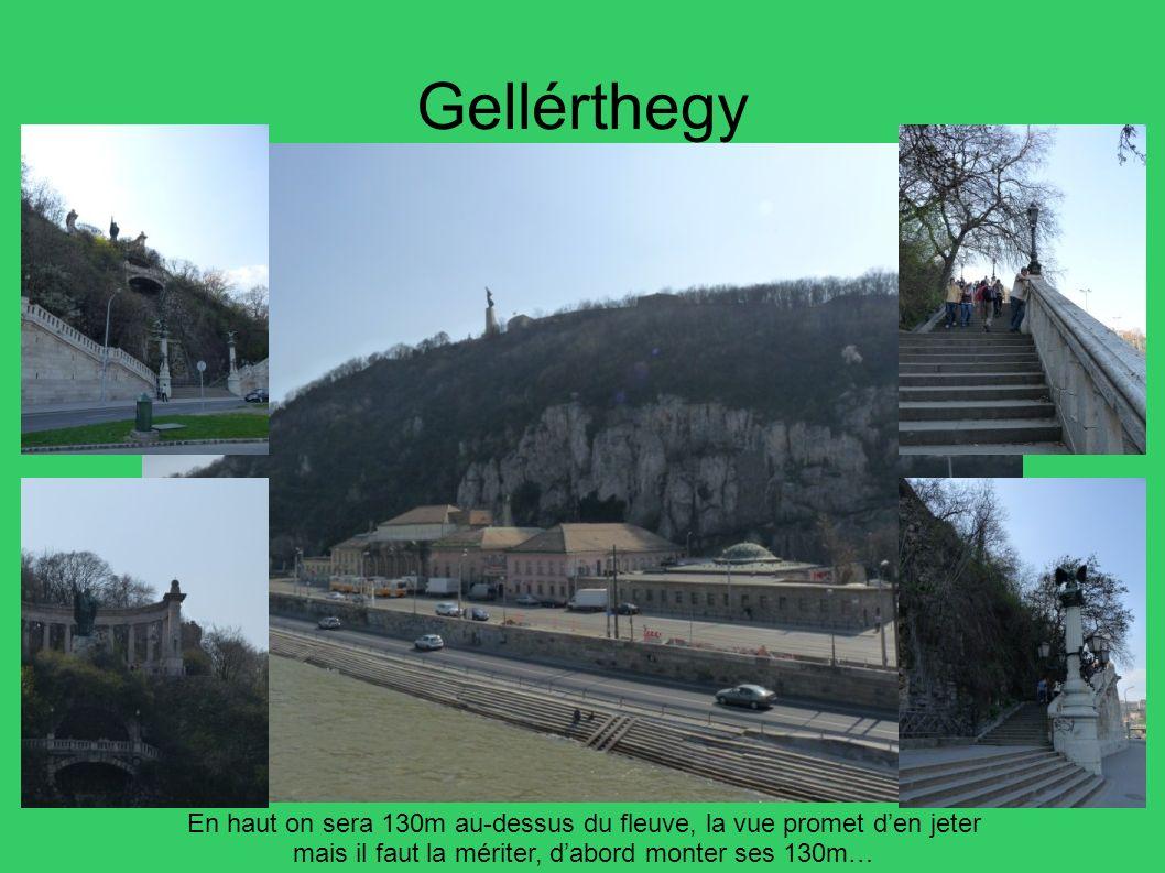 Gellérthegy En haut on sera 130m au-dessus du fleuve, la vue promet d'en jeter. mais il faut la mériter, d'abord monter ses 130m…