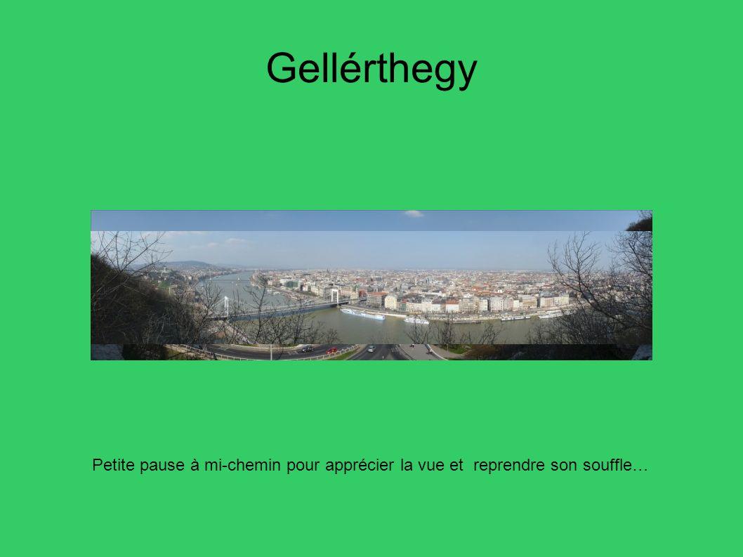 Gellérthegy Petite pause à mi-chemin pour apprécier la vue et reprendre son souffle… 32