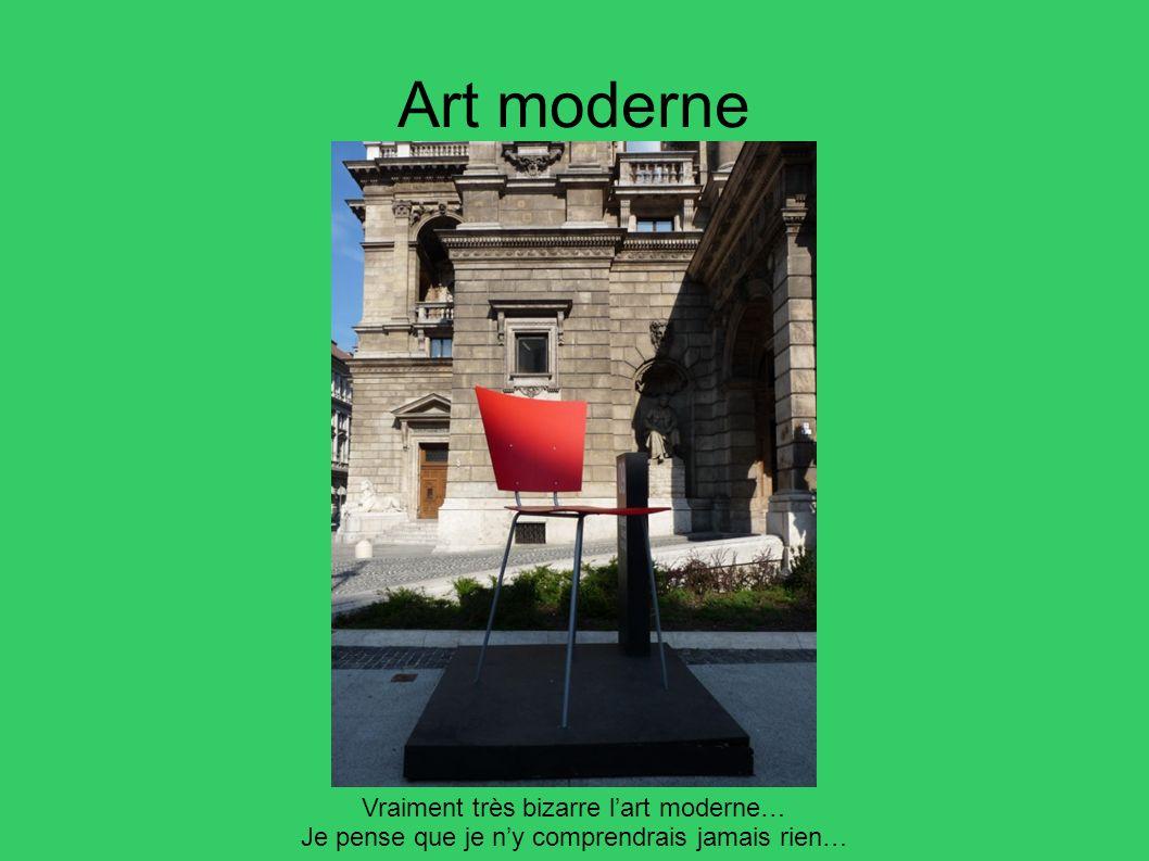 Art moderne Vraiment très bizarre l'art moderne…