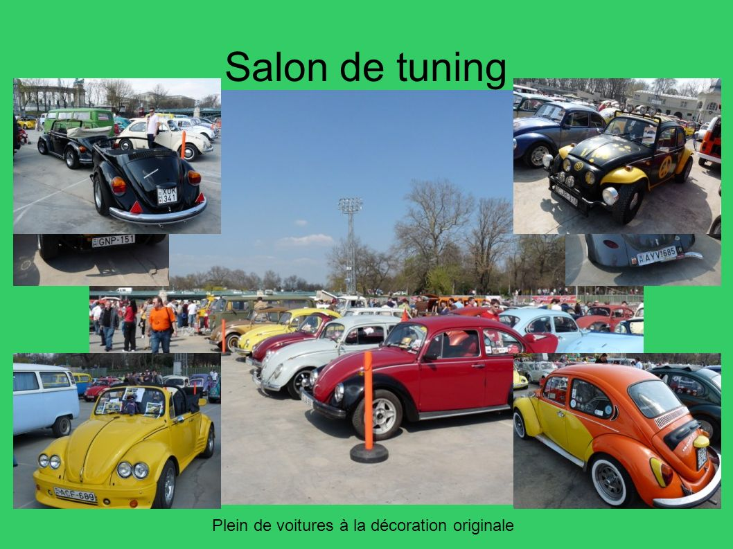 Salon de tuning Plein de voitures à la décoration originale 54
