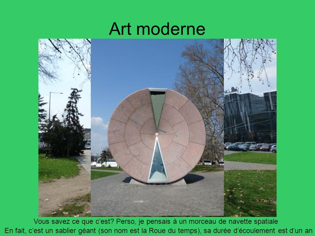 Art moderne Vous savez ce que c'est Perso, je pensais à un morceau de navette spatiale.