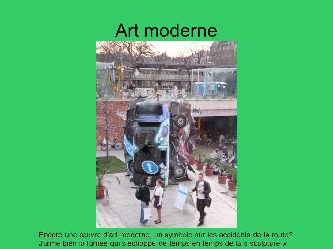 Art moderne Encore une œuvre d'art moderne, un symbole sur les accidents de la route
