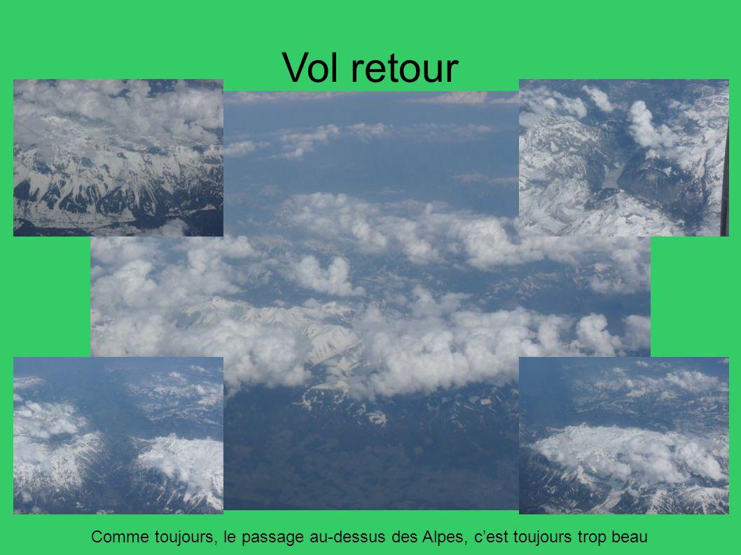 Vol retour Comme toujours, le passage au-dessus des Alpes, c'est toujours trop beau 86