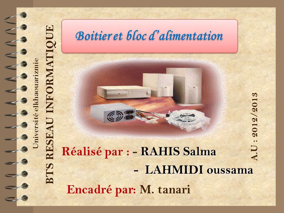 Réalisé par : - RAHIS Salma - LAHMIDI oussama