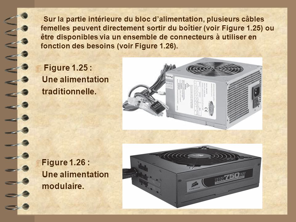 Figure 1.25 : Une alimentation traditionnelle. Figure 1.26 :