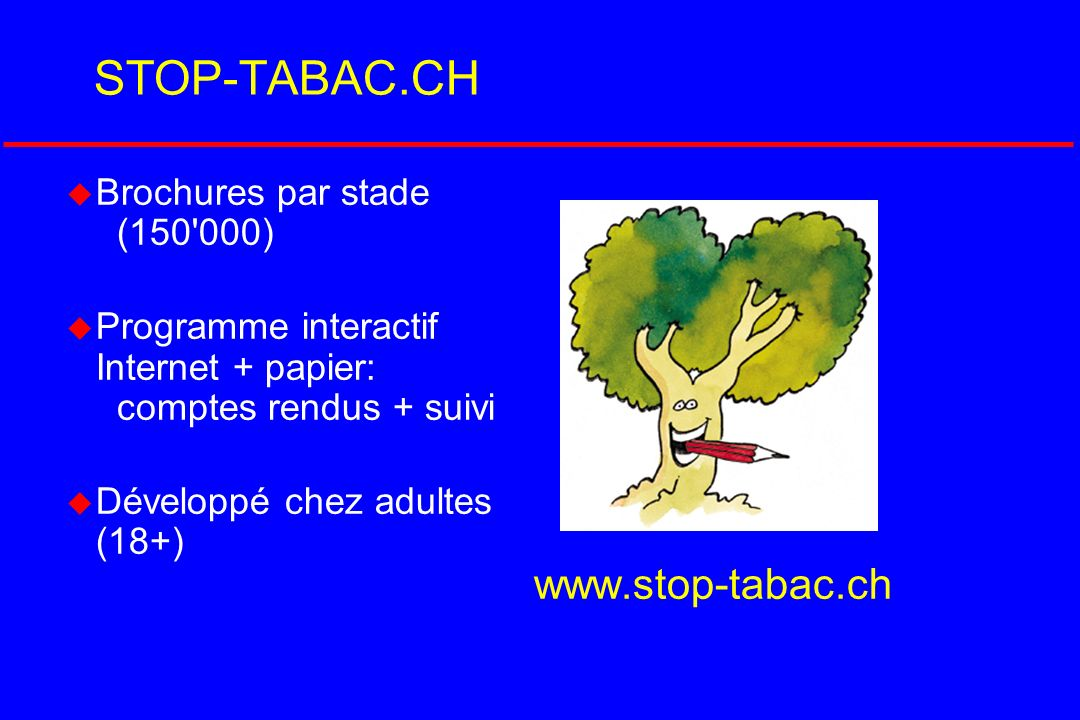 STOP-TABAC.CH Brochures par stade (150 000)