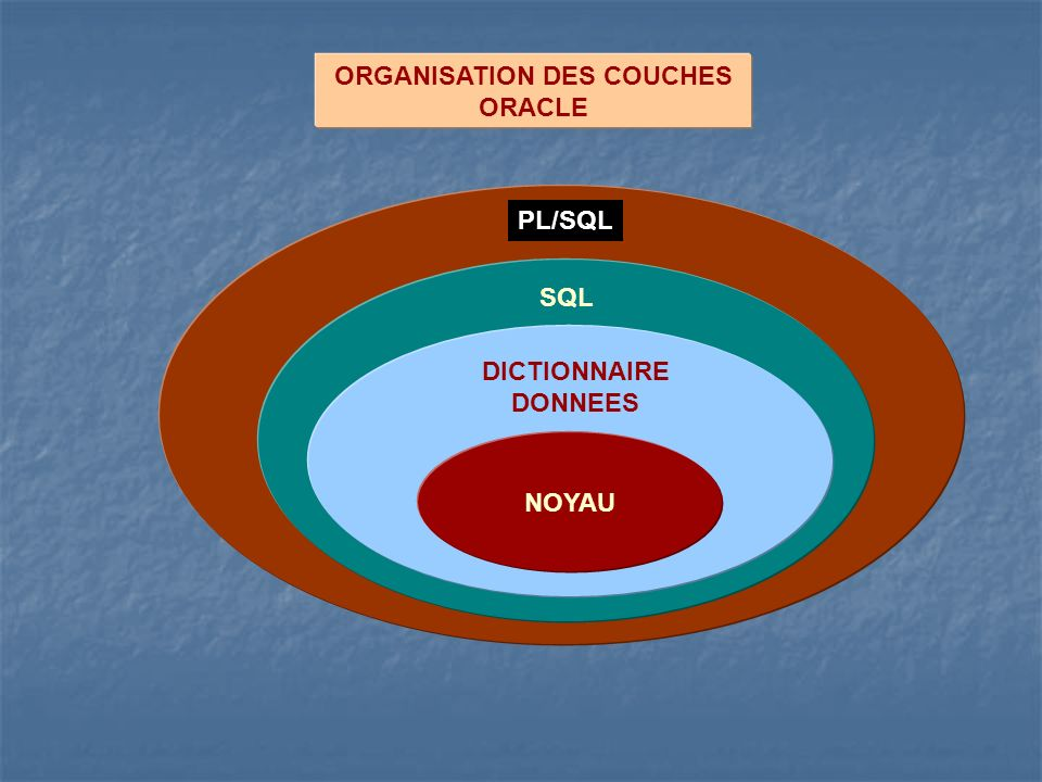 ORGANISATION DES COUCHES ORACLE