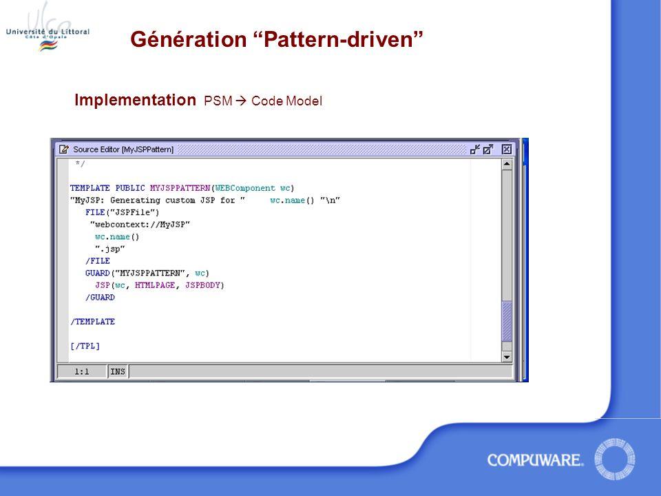 Génération Pattern-driven