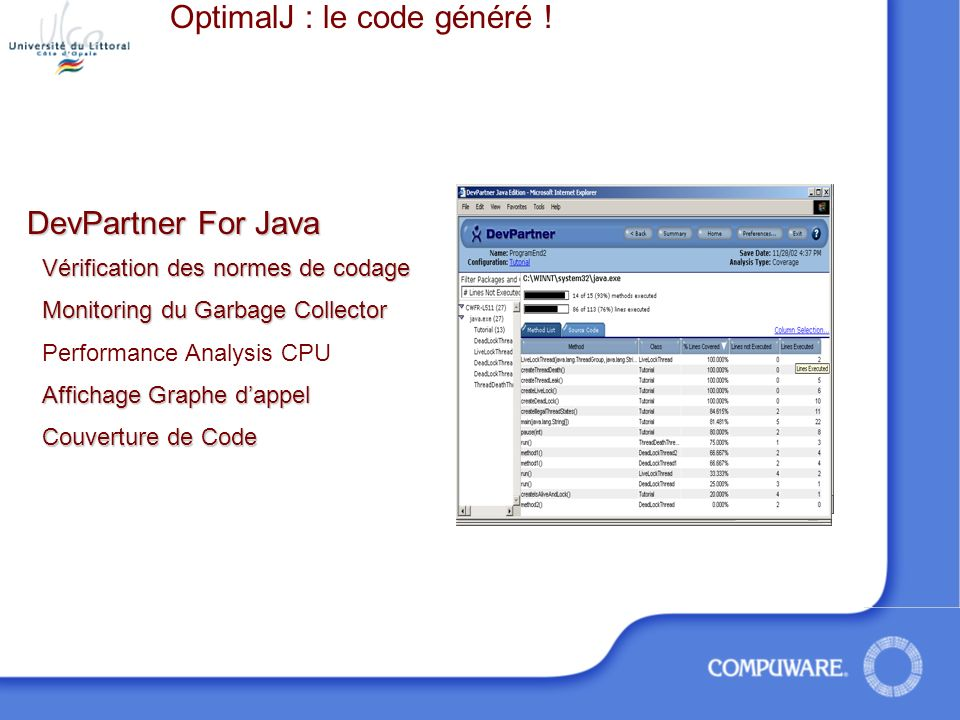 OptimalJ : le code généré !