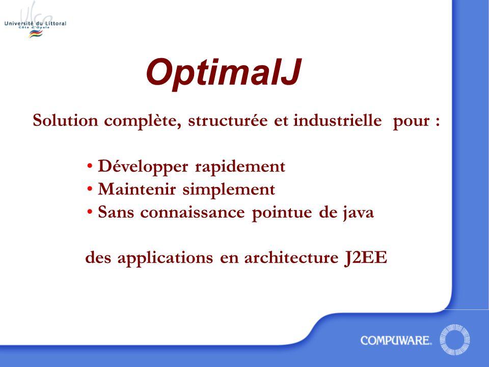 OptimalJ Solution complète, structurée et industrielle pour :