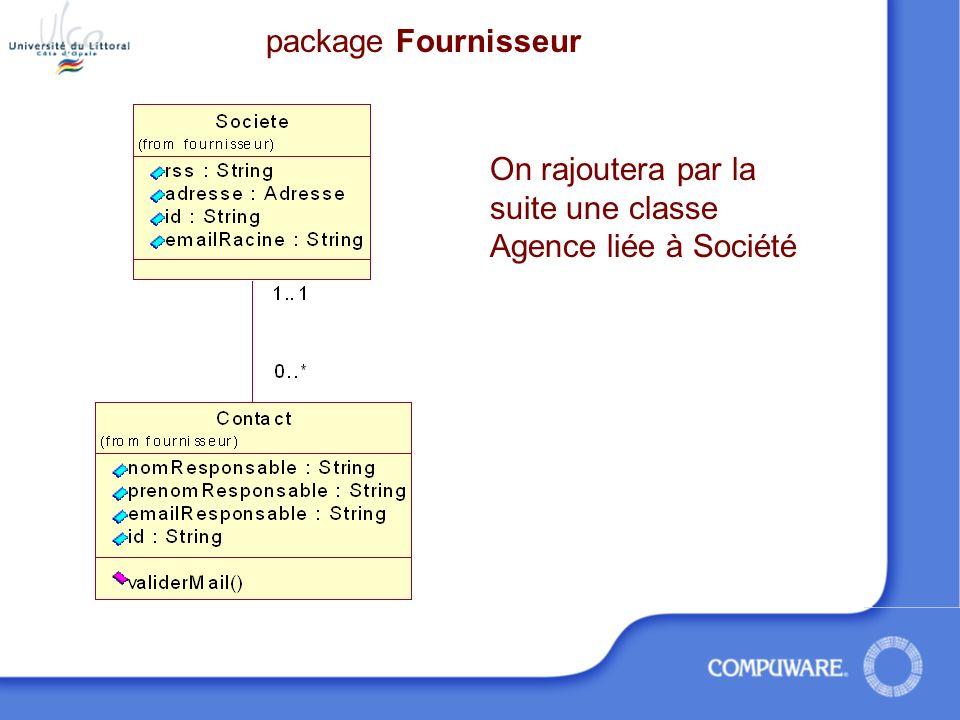 Les Fournisseurs package Fournisseur