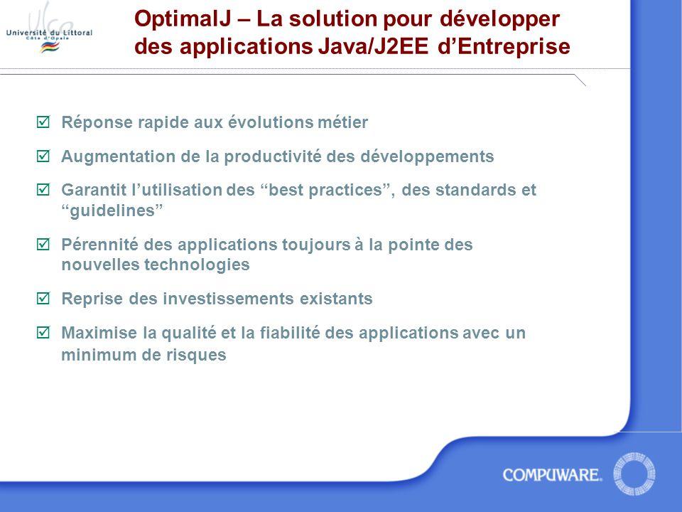 OptimalJ – La solution pour développer des applications Java/J2EE d'Entreprise