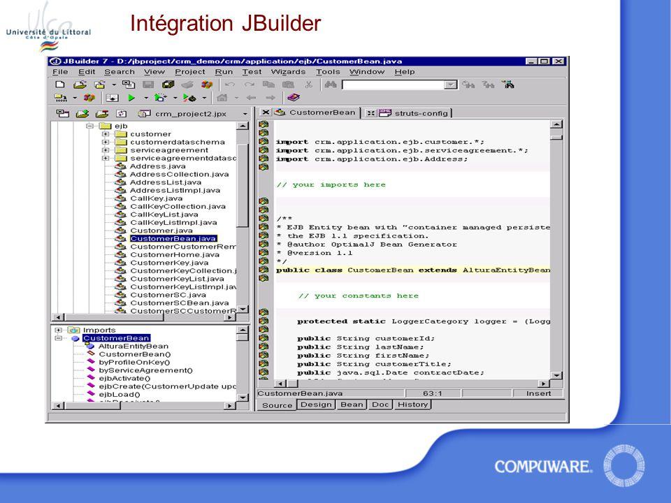 Intégration JBuilder