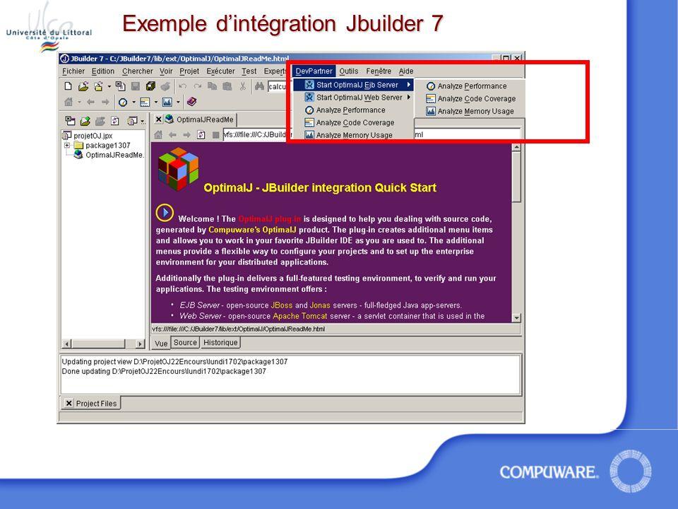 Exemple d'intégration Jbuilder 7