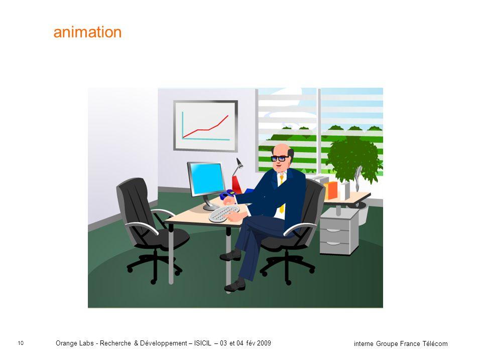 animation Orange Labs - Recherche & Développement – ISICIL – 03 et 04 fév 2009