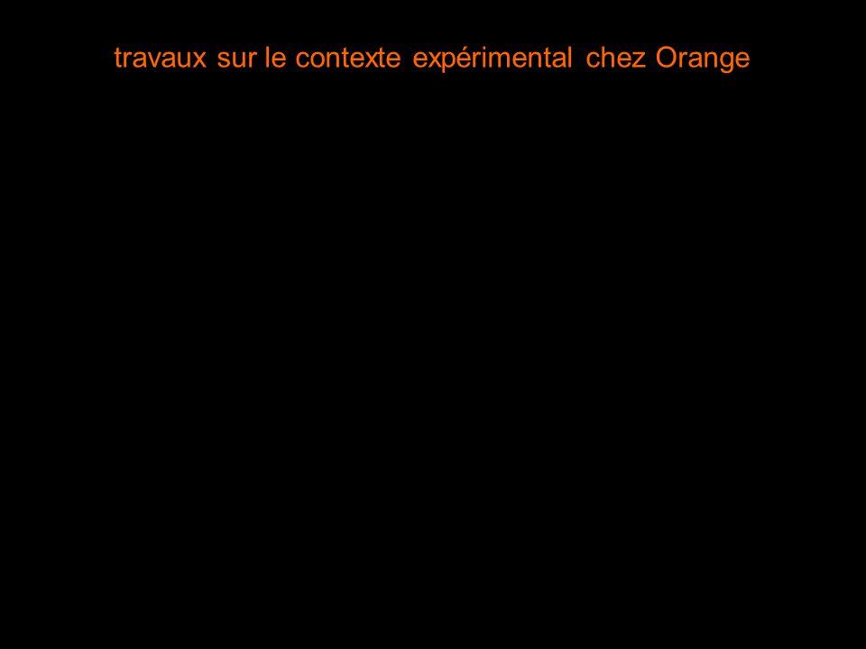 travaux sur le contexte expérimental chez Orange