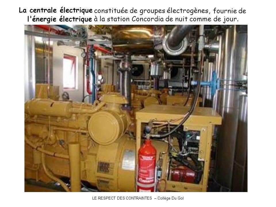 La centrale électrique constituée de groupes électrogènes, fournie de