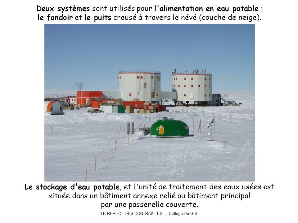 Deux systèmes sont utilisés pour l alimentation en eau potable :