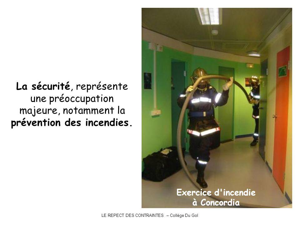 LE REPECT DES CONTRAINTES – Collège Du Gol