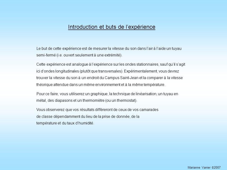 Introduction et buts de l'expérience