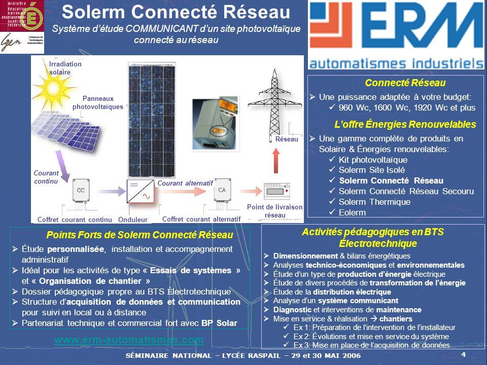 Solerm Connecté Réseau