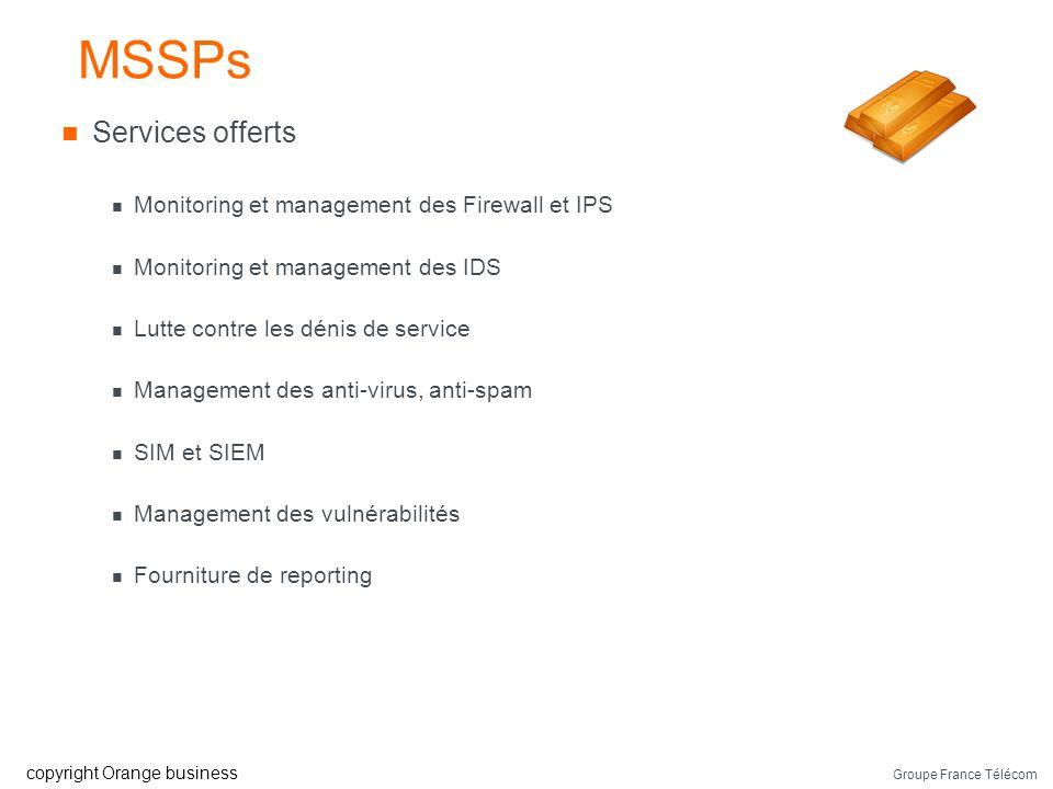 MSSPs Services offerts Monitoring et management des Firewall et IPS