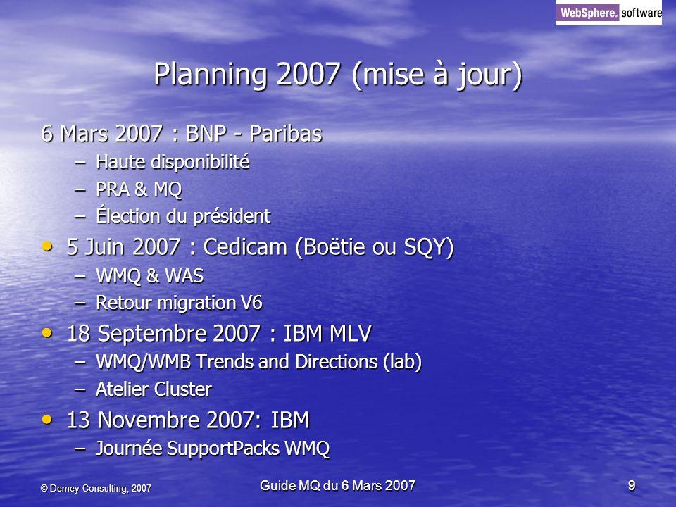 Planning 2007 (mise à jour) 6 Mars 2007 : BNP - Paribas