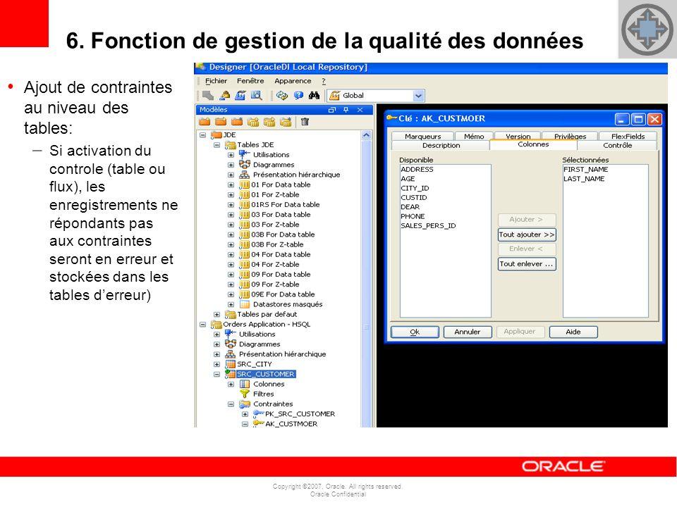 6. Fonction de gestion de la qualité des données