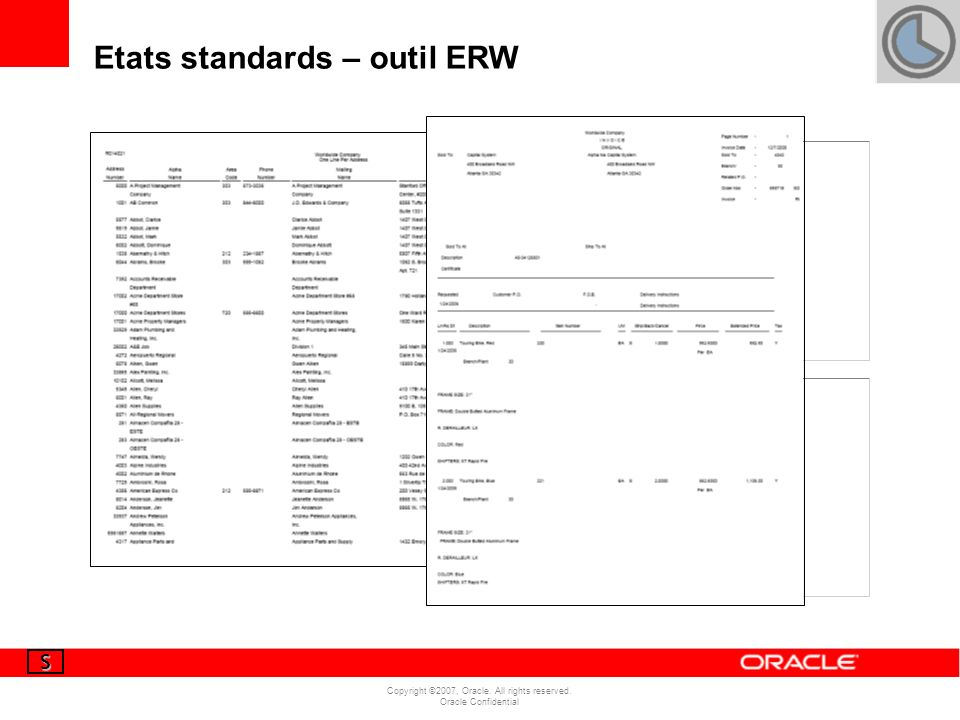Etats standards – outil ERW