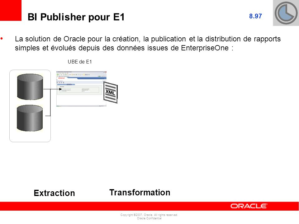 BI Publisher pour E1 Extraction Transformation