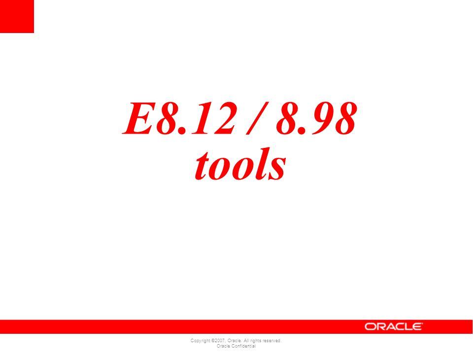 E8.12 / 8.98 tools
