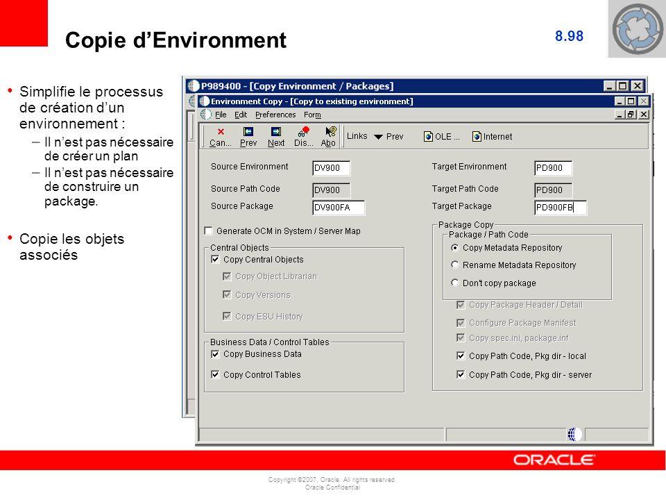 Copie d'Environment 8.98. Simplifie le processus de création d'un environnement : Il n'est pas nécessaire de créer un plan.