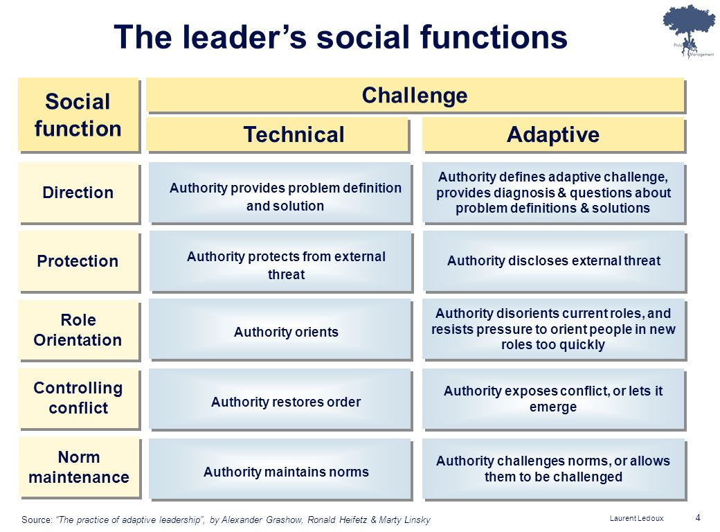 The leader's social functions