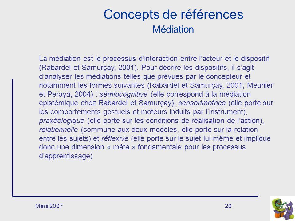 Concepts de références Médiation