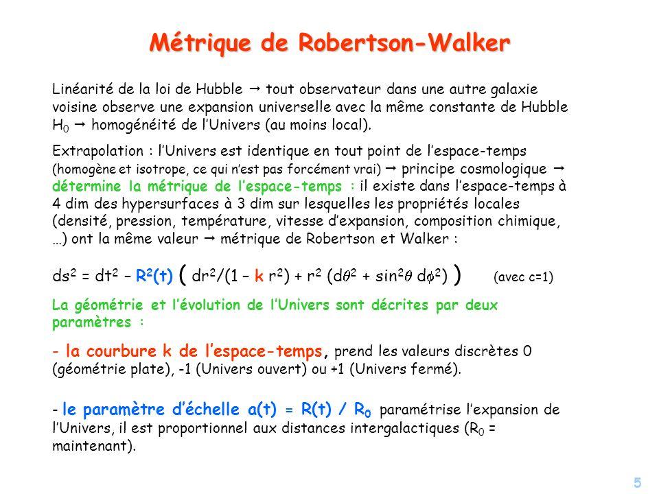 Métrique de Robertson-Walker