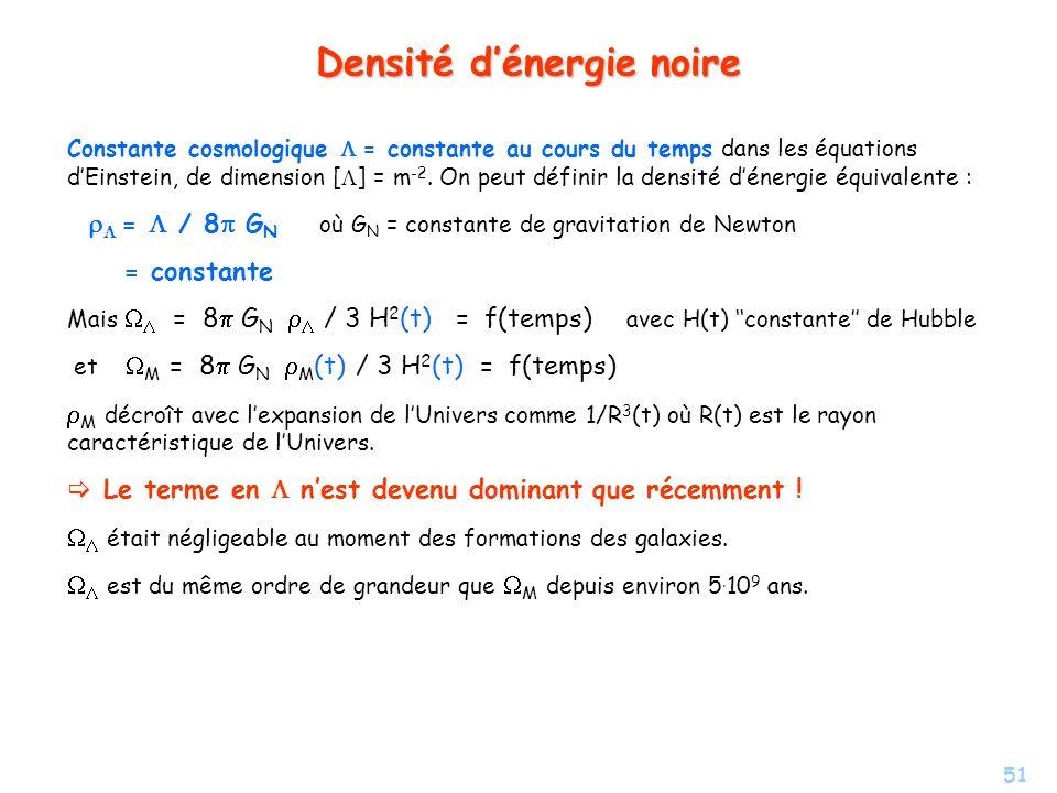 Densité d'énergie noire