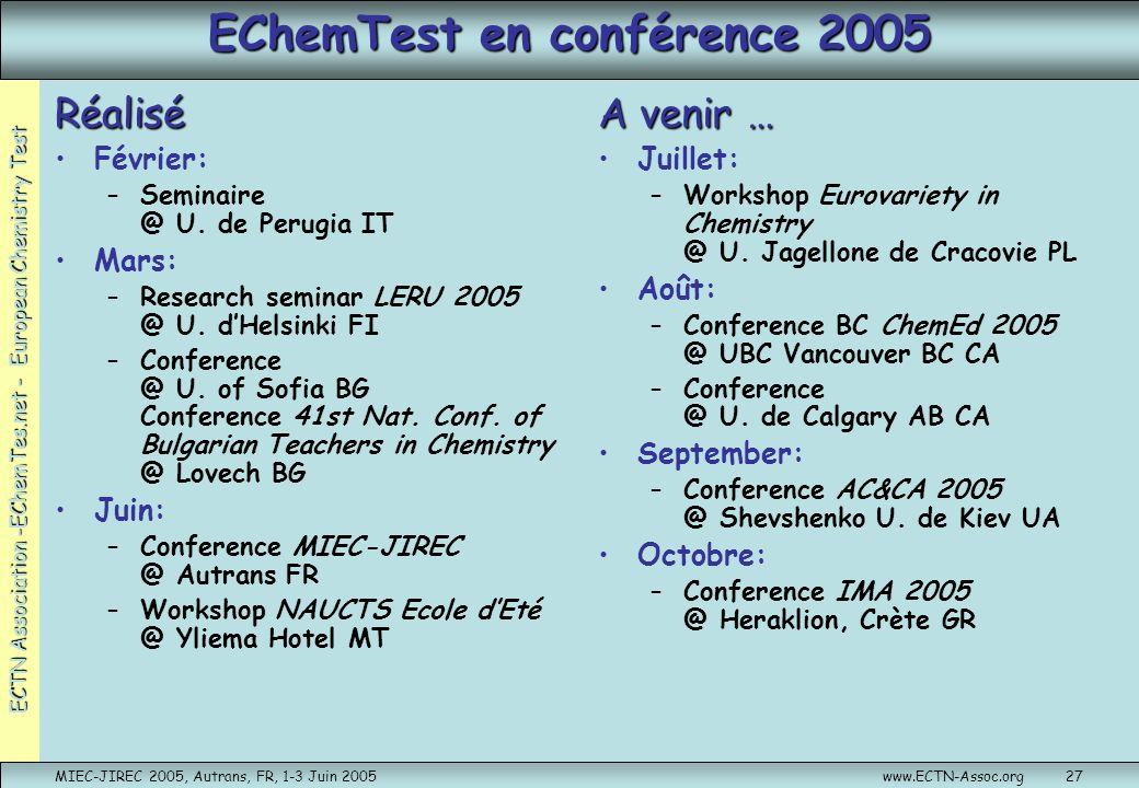 EChemTest en conférence 2005