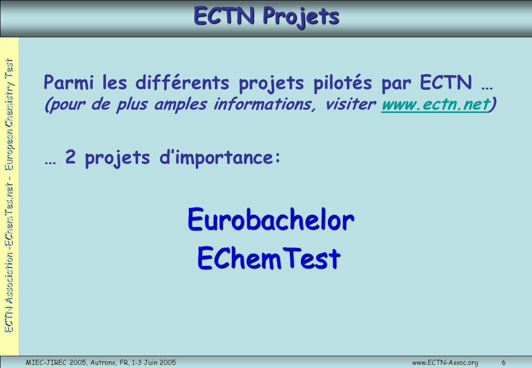 Eurobachelor EChemTest ECTN Projets