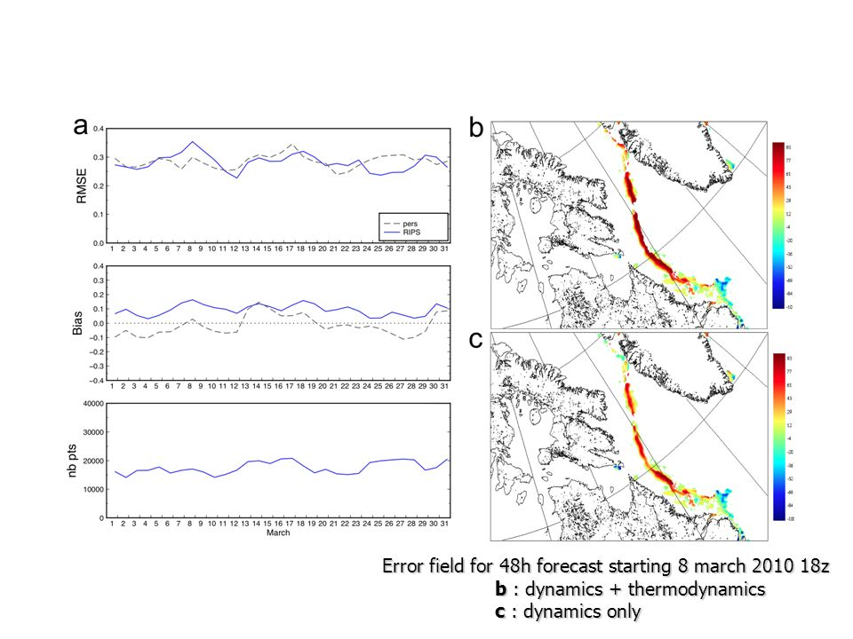 Error field for 48h forecast starting 8 march 2010 18z